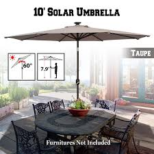 Outdoor Solar Table L Benefitusa10 Solar Patio Umbrella 80 Led Light