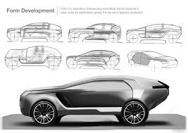 land rover drawing this driverless land rover concept car has a serious backside