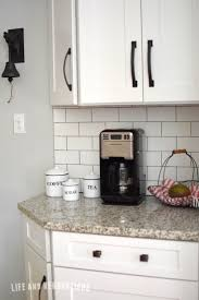 Grout Kitchen Backsplash by White Subway Tile With Dark Grout Luna Pearl Granite Real Estate