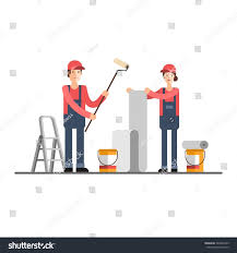 house construction company repair construction company service young woman stock vector