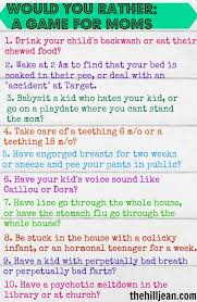 Games For Chat Rooms - a game for moms would you rather ice breakers mom group and gaming