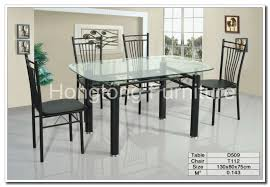 Glass And Chrome Dining Table Round Glass Dining Table And 4 Chairs Round Glass Dining Table