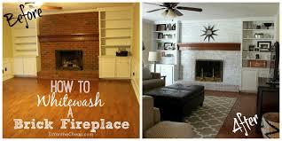 how to whitewash red brick fireplace design ideas loversiq
