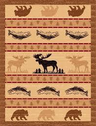 Rustic Area Rugs Pw Lodge361 2x3