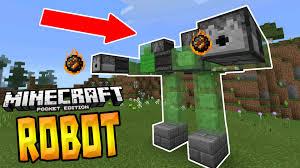 walking robot in mcpe 1 0 redstone creation minecraft pe