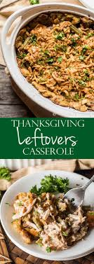 turkey and casserole recipe using thanksgiving leftovers