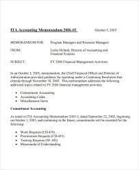 standard business memo template sample for accounting department