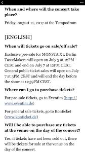 monsta x in berlin information monbebe amino