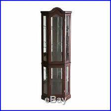 glass corner curio cabinet 34 corner curio shelves corner curio cabinet tall mirror lighted