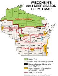 Map Of Central Wisconsin by Wisconsin Deer Hunting Forecast For 2014 Game U0026 Fish