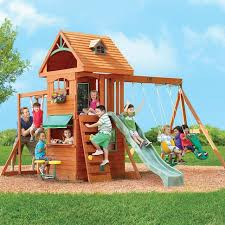 swing set for babies big backyard ridgeview clubhouse deluxe wood swing set toys r us
