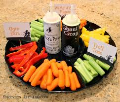 halloween vegetable tray a healthy