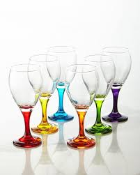 wine glasses godinger six rainbow wine glasses