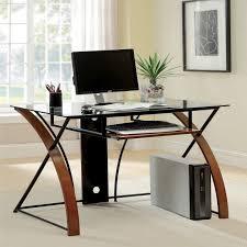 Computer Desk Ebay by Furniture Of America Sirga Modern Grey Tempered Glass Computer