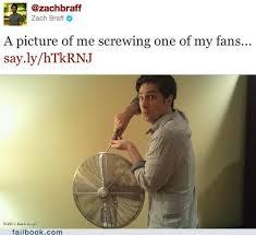 Zach Braff Meme - zach braff screws a fan on camera failbook failing on facebook