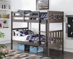 Embrace Loft Bed Set Double Bunk Beds In Slate Gray Double Bunk Beds Double Bunk And