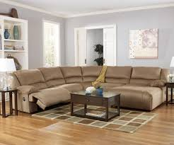 motion sofas and sectionals hogan mocha 5 piece motion sectional with chaise by signature