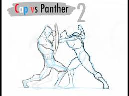 black panther vs captain america sketch part 2 youtube