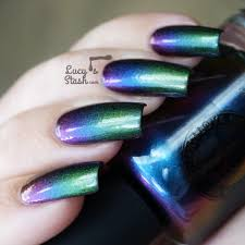 multichrome gradient feat i love nail polish birefringence and