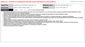 Sonographer Resume Samples All Around Patternmaker Job Title Docs