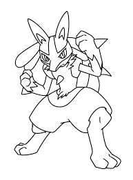lucario coloring pages