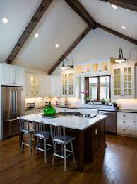 Farmhouse Kitchen Design by All Time Favorite Farmhouse Kitchen With Glass Front Cabinets