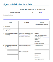 sample agenda templates