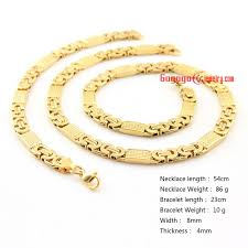 fashion bracelet sets images 8 mm men 39 s stainless steel byzantine chain necklace fashion jpg