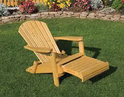 pine chairs treated pine folding adirondack chair w footrest