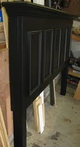 Black Headboard King Diy King Size Headboard Panel Door Converted Into A King Size