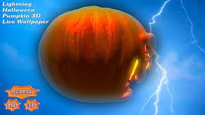 3 d halloween wallpaper lightning halloween pumpkin 3d android apps on google play