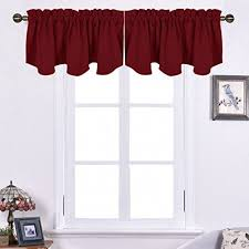 Valance Curtains For Bedroom Red Valance Curtain For Kids Bedroom Amazon Com