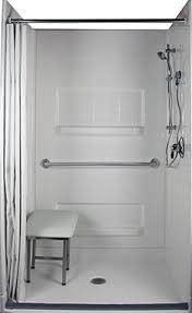 walk in tub vs roll in shower barrier free