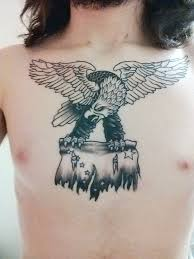 Alaska Flag Meaning First Tattoo Eagle Carrying Torn Alaskan Flag Done By Don Yarian