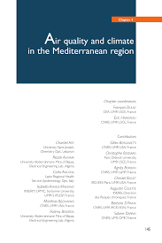 Inno Infr by Air Quality And Climate In The Mediterranean Region Pdf Download