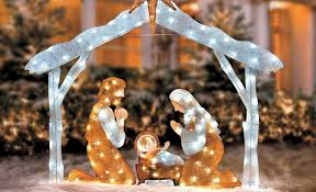 lighted outdoor nativity sweetlooking outdoor christmas decorations nativity