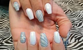 acrylic infill l grey u0026 white winter christmas snowflake l nail