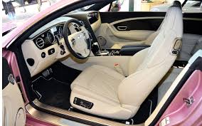 new bentley truck interior pretty in pink bentley continental gt dolled up for charity