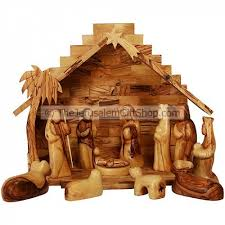 faceless olive wood nativity set holy land christian gifts