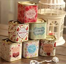 sweet flower tea tin box gift tin packaging box bag