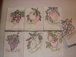 embroidered dish towels towel