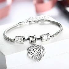 love heart silver bracelet images Gifts teachers rule jpg