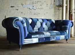 Patchwork Chesterfield - bespoke navy walton patchwork chesterfield sofa tikspor