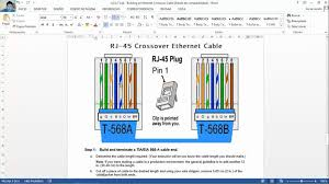 rj45 connector 568a wiring diagram crossover cable rj45 connector