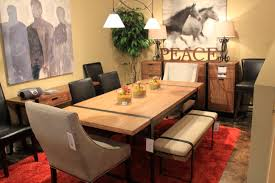 Bench Style Dining Room Tables Marvelous Design Picnic Style Dining Table Trendy Inspiration
