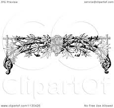 clipart of a retro vintage black and white trellis arch and vine