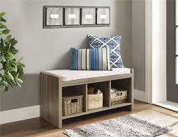 dorel ella entryway storage bench with cushion walmart canada
