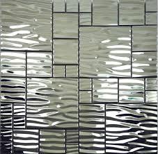 Stainless Steel Mosaics  Mrstestcom - Stainless tile backsplash