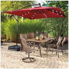 Patio Umbrellas With Led Lights Patio Umbrella With Led Lights Cozy View Wilson Fisher Solar