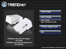 tpl 303e2k trendnet 2 x 200mbps powerline av adapter dual pack kit